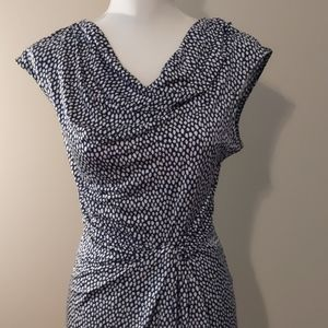 Dana Buchman navy & white dress Large